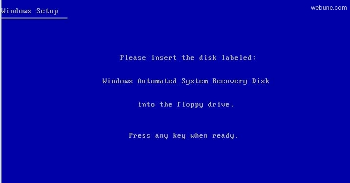Windows XP Set up and Use Automated System Recovery in Windows XP